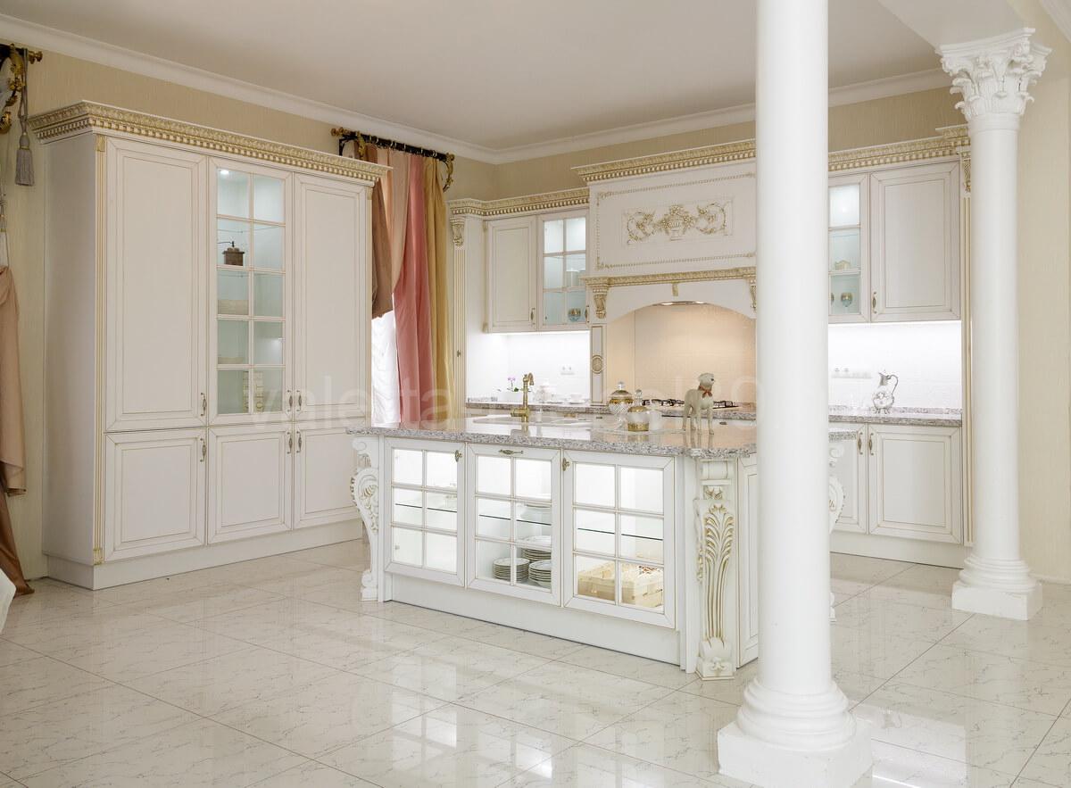 Кухня классика из массива ольхикухни из массива дерева; кухня белая; кухня классика