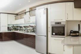 кухня модерн с фоопечатью кёнигсбергской биржи от Валетта мебель