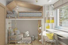 детская комната с кроатью-домиком