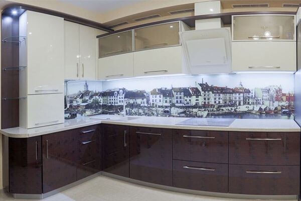 Панорама старого Кёнигсберга в кухне на ул. Флотская г. Калининграда